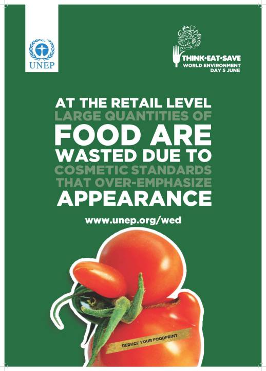 At the retail level large quantities of food are wasted due to cosmetic standards that over-emphasize appearance