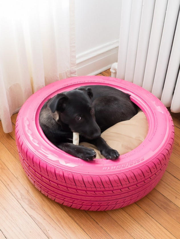 Upcycled dog bed
