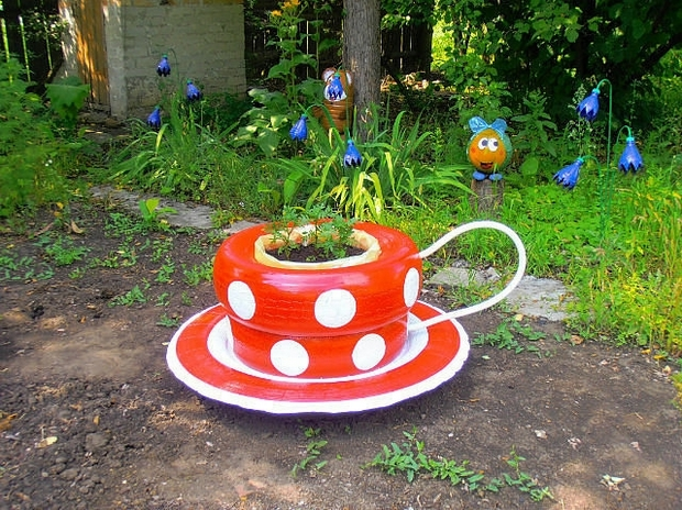 Upcycled garden furniture