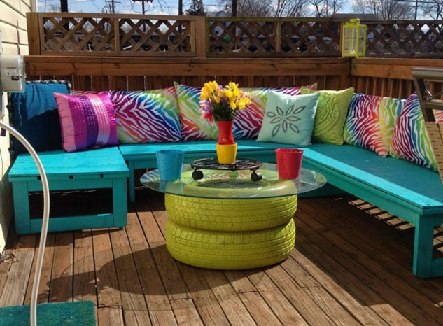 Upcycled terrace table