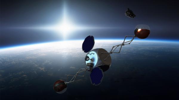 rubbish into space